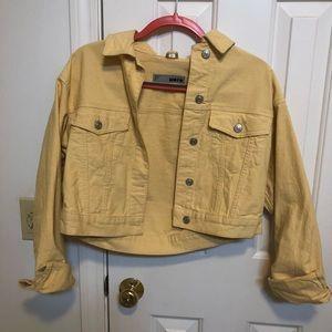 Top shop moto denim crop jacket